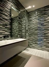 decoration creative black glass mosaic modern shower tile wall
