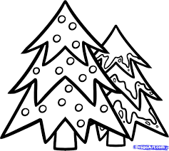 how to draw christmas trees christmas trees step by step