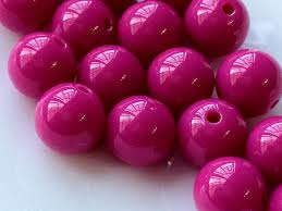 hot pink colour 12 mm opaque hot pink color round shape candy acrylic beads