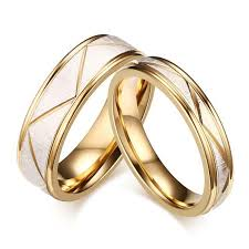color wedding rings images Wedding ring couples matching rings women 39 s men 39 s gold color love jpg