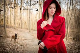 belgian malinois in ohio sarah whitwell photography red riding hood fairy tale concept
