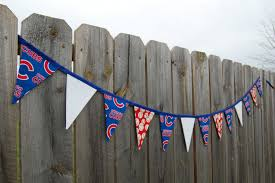 Chicago Cubs Flags Chicago Cubs Pennant Baseball Bunting Sports Fabric Banner
