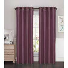 Plum Faux Silk Curtains Plum Curtains Drapes Window Treatments The Home Depot