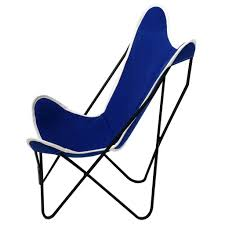 Outdoor Sling Chairs Half Pint Butterfly Sling Chair Cobalt Steele Canvas Basket Corp