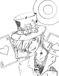 mad hatter coloring pages coloring pages for free pinterest