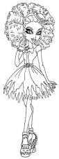 kara realm ever after high coloring pages doll hair pinterest