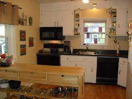 luxurious small kitchen countertops with a big fridge with sink