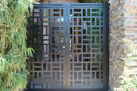 modern entry gates garden design