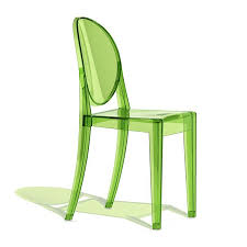 Green Armchairs Replica Philippe Starck Victoria Ghost Chair