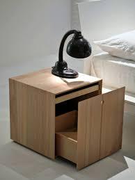 attractive modern wooden nightstand design introducing smart