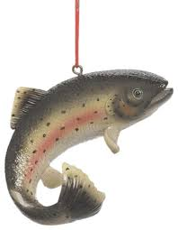 fish rainbow trout tree ornament traditional
