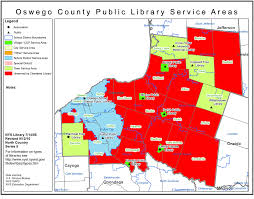 A Map Of New York State by Oswego County Find Your Public Library In New York State Library