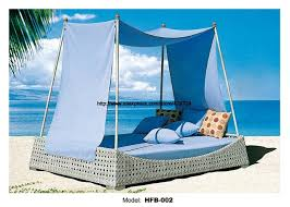 holiday beach bed outdoor furniture rattan bed sofa bed terrace sun