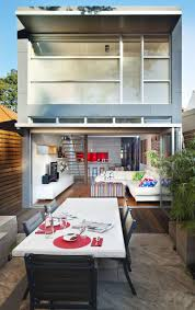 small modern house design with white walol using large window and