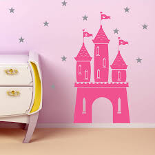 magical fairy castle and stars wall sticker by snuggledust studios magical fairy castle and stars wall sticker