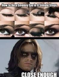 Eyeliner Meme - bucky barnes eyeliner google search my nerd style pinterest