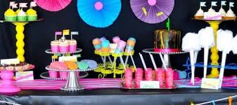 how to put together a candybuffet for a neon glow in the dark