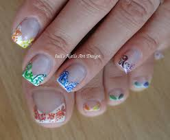 how to nail art design french manicure rainbow swirls arabesque