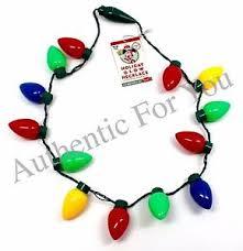 flashing christmas light necklace disney parks holiday glow christmas necklace retro flashing