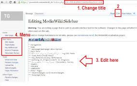 left sidebar how to edit left sidebar menu in mediawiki techglimpse