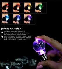 wholesale led light bulb necklace flashlight colorful bulb pendant