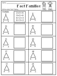 number fact families fact family worksheets printable activity shelter math