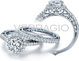 circle engagement ring with halo verragio halo engagement ring afn 5022r