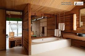interior pleasant modern wooden bathroom ideas with floating