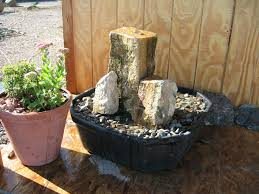 garden decor marvellous stone pondless water fountain and stone