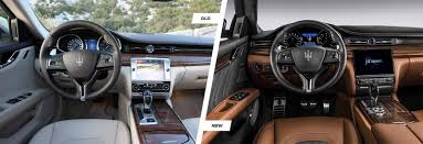 maserati interior maserati quattroporte facelift old vs new carwow