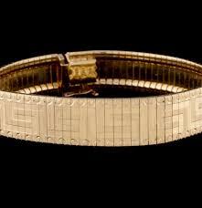 Greek Key Motif Itaor Italian Sterling Gold Vermeil Bracelet In A Greek Key Motif