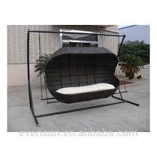 pear shape outdoor rattan swing chair sun garden swing sofa view