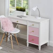 desks for kids rooms kids room traditional pink and white desk and chair set for girls