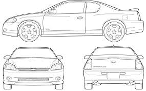 lamborghini aventador drawing outline 2007 chevrolet monte carlo coupe blueprints free outlines