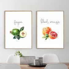 affiches cuisine nordique affiche fruits et légumes mur toile peinture cuisine