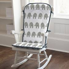 Rocking Chair Cushion Sets For Nursery Navy And Gray Elephants Rocking Chair Pad Rocking Chair Pads