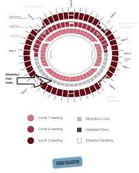 Mcg Floor Plan by Medallion Club Seating Ticketblaster