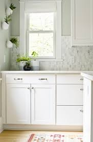 Cloud White Kitchen Cabinets by The Curbly House Our Kitchen Revealed Curbly