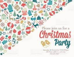 template free christmas party invitation template black and