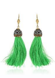 feather earrings online india buy emerald juju tassel earrings for women online in india