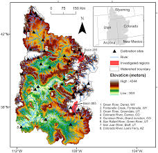 Colorado River On A Map by Climate Change Impacts On Streamflow And Subbasin Scale Hydrology