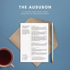 how do you write resume in word resume templates illustration design the audubon png