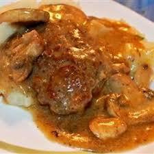mushroom gravy its not easy scrumptious salisbury steak in mushroom gravy recipe allrecipes com