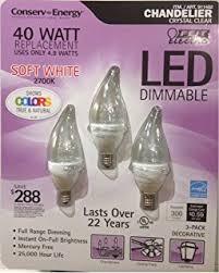Dimmable Led Chandelier Light Bulbs Feit 4 8 Watt U003d 40 Watts Led Candelabra Light Bulbs 3 Pack 3000k