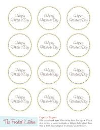 mother u0027s day freebies cupcake toppers
