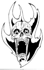 flaming skull by unholy god on deviantart