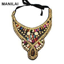 fashion collar necklace wholesale images Manilai indian style handmade choker multicolor candy beads collar jpg