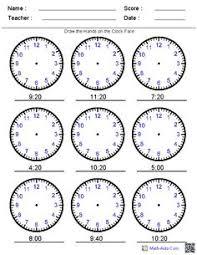 telling the time maths pinterest analogue clocks