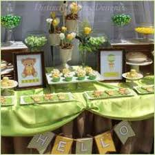teddy baby shower ideas teddy baby shower ideas green brown satin table cloth