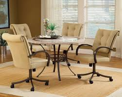 Poker Table Chairs With Casters by Room Dining Room Chairs On Casters Decorating Ideas Luxury At